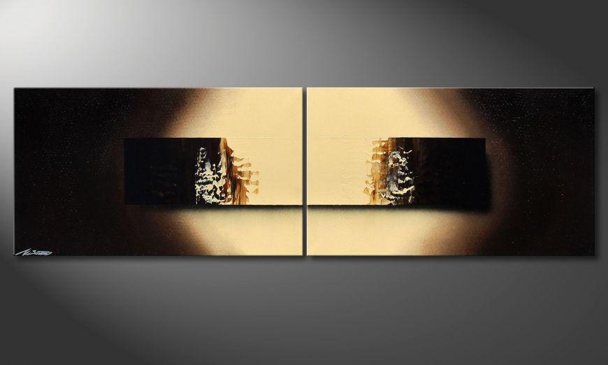Chocolate Block 200x60x2cm Wandbild