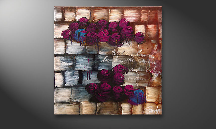 Clouds of Roses 80x80x2cm Wandbild