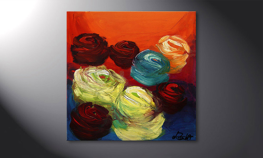 Colors of Roses 70x70x2cm Wandbild
