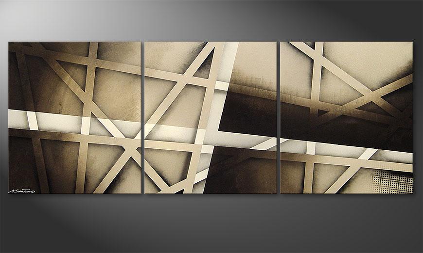 Das Bild Earthquake 180x70x2cm