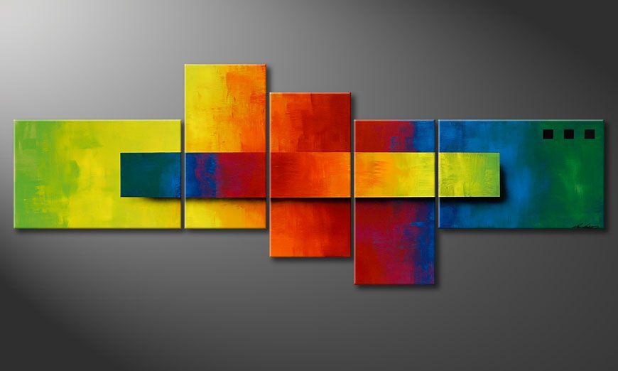 Das Bild Piece of a Rainbow 130x75x2cm