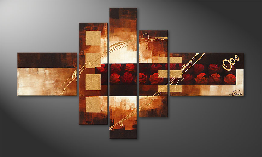 Das Bild Rose Phantasies 150x90x2cm
