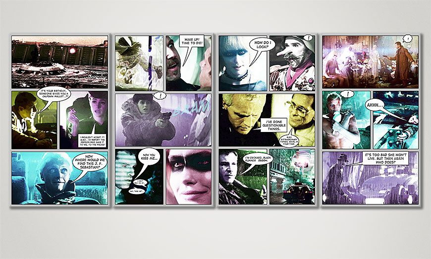 Das Wandbild Blade Runner in 160x70x2cm
