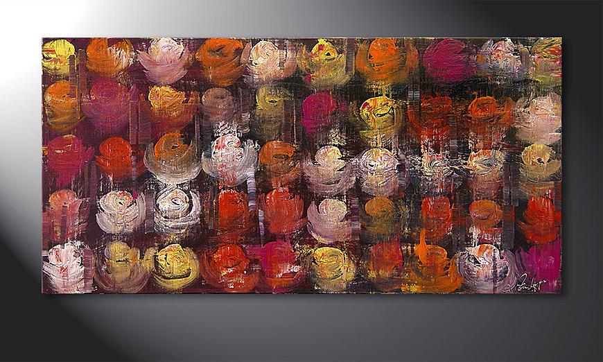 Das Wandbild Colored Roses 120x60x2cm