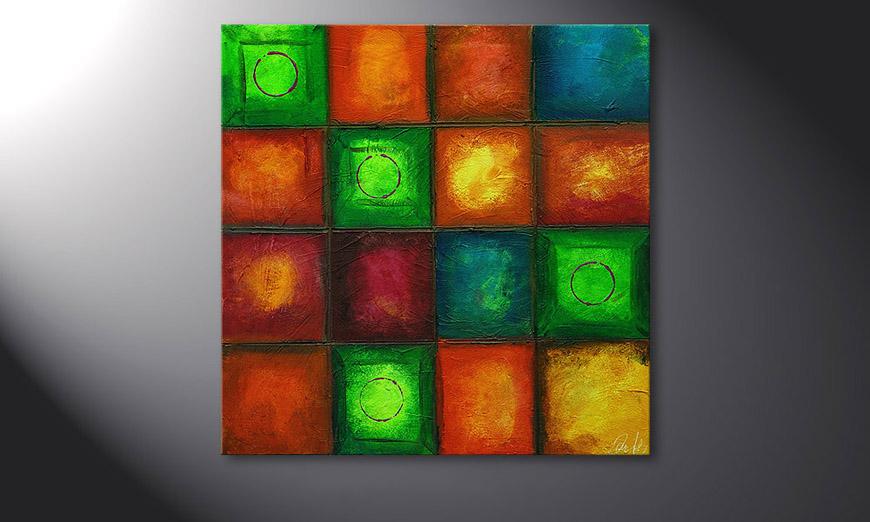 Das Wandbild Colorful Cubes 80x80x2cm