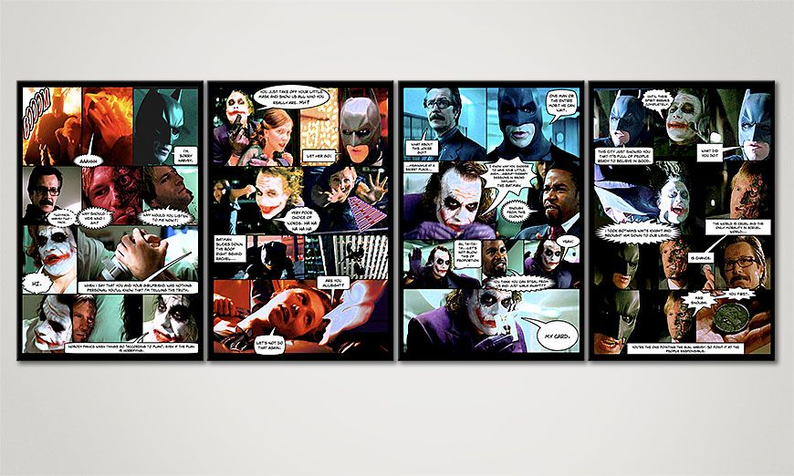 Das Wandbild Dark Knight in 160x60x2cm