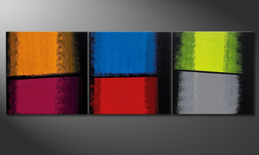 Das Wandbild Departed Colors 210x70x2cm