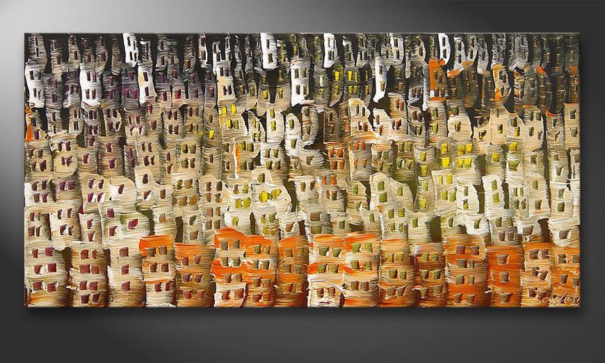 Das Wandbild Desert City 120x60x2cm