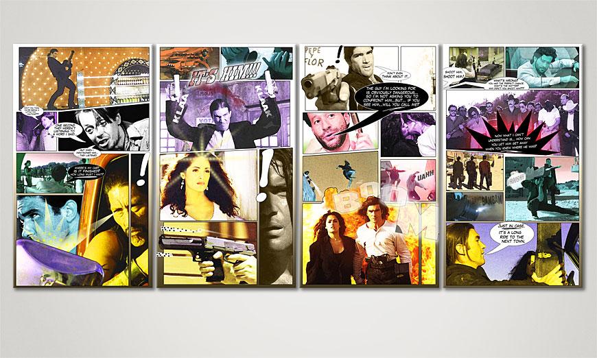 Das Wandbild Desperado in 160x70x2cm