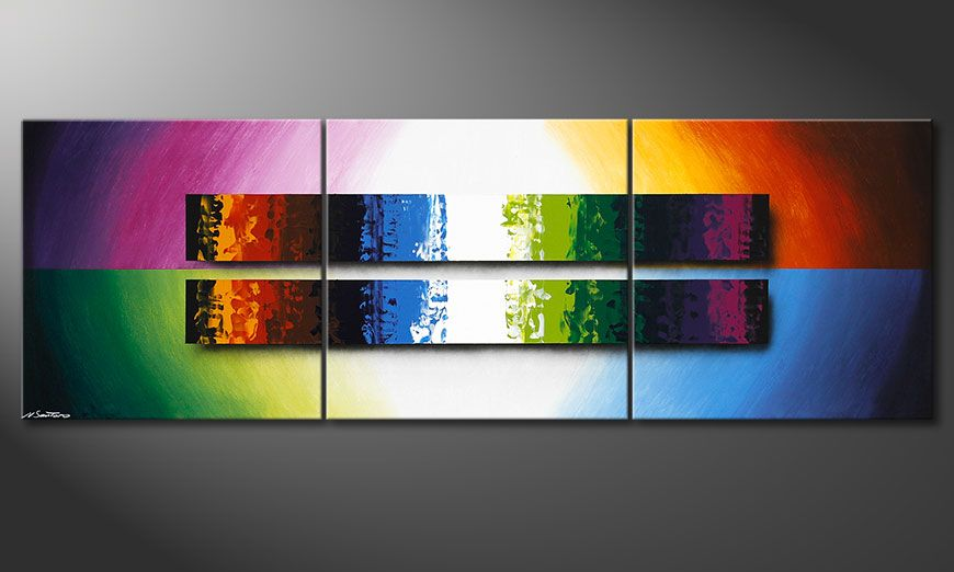 Das Wandbild Expression of Colours 210x70x2cm