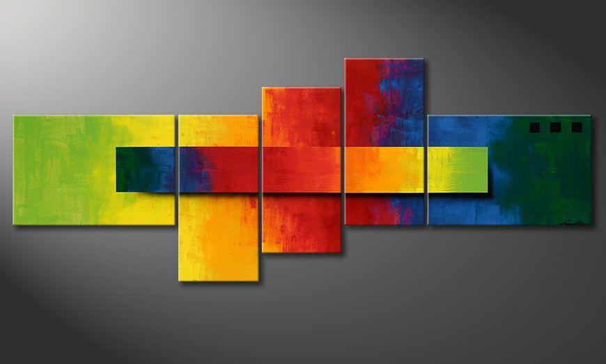 Das Wandbild Facets of a Rainbow 210x80x2cm