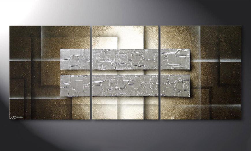 Das Wandbild Frozen Blocs 170x70x2cm