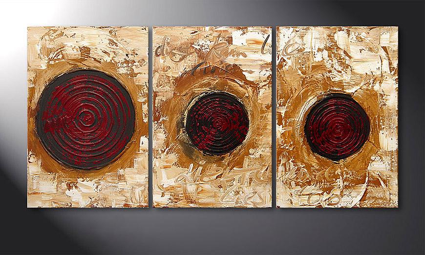 Das Wandbild Impulses 120x60x2cm