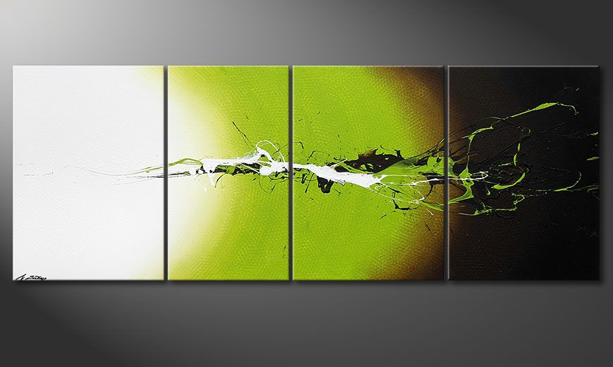 Das Wandbild Juicy Splash in 190x70x2cm