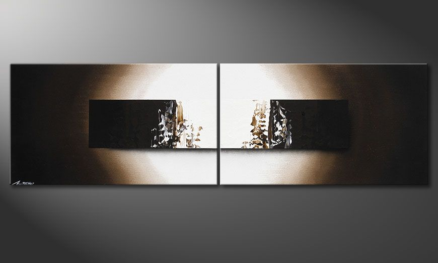 Das Wandbild Light Rain in 200x60x2cm