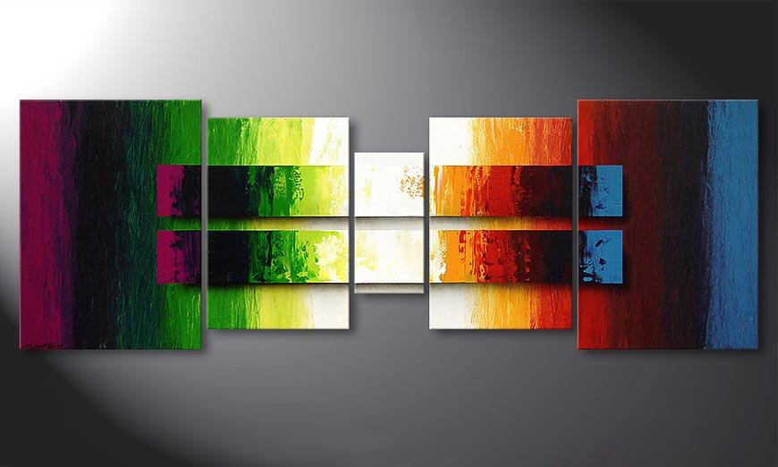 Das Wandbild Liquid Colours 200x70x2cm