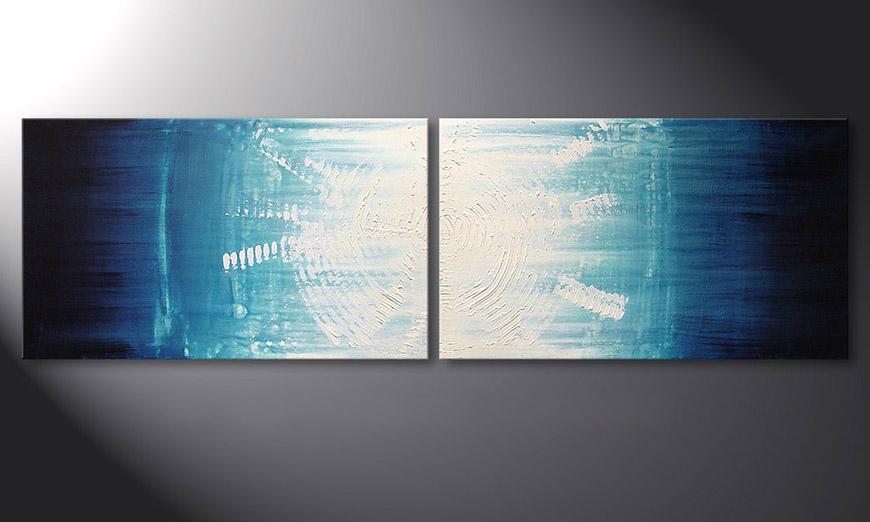 Das Wandbild Maelstrom 200x60x2cm
