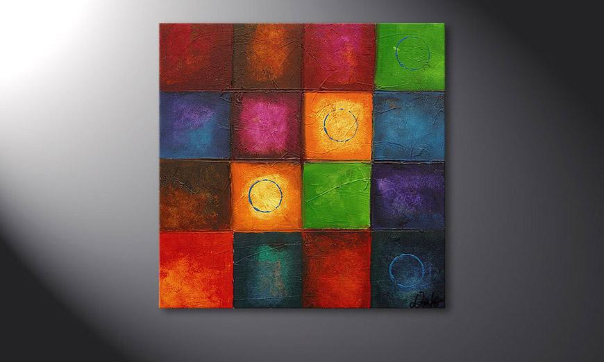 Das Wandbild Pot-Pourri 70x70x2cm
