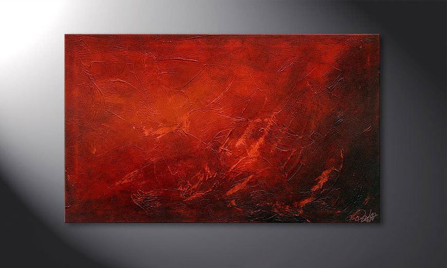 Das Wandbild Red 100x60x2cm