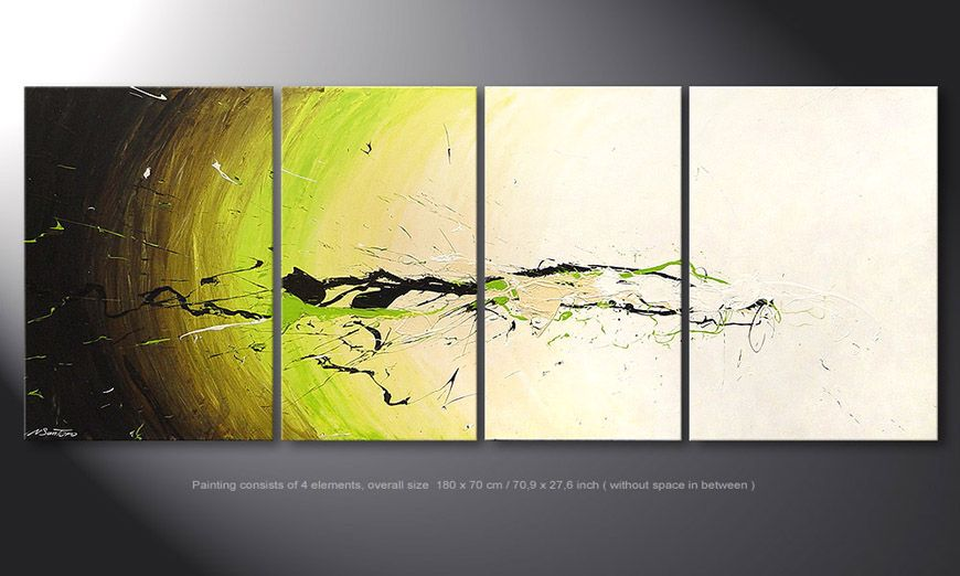 Das Wandbild Spirit of Nature in 180x70x2cm