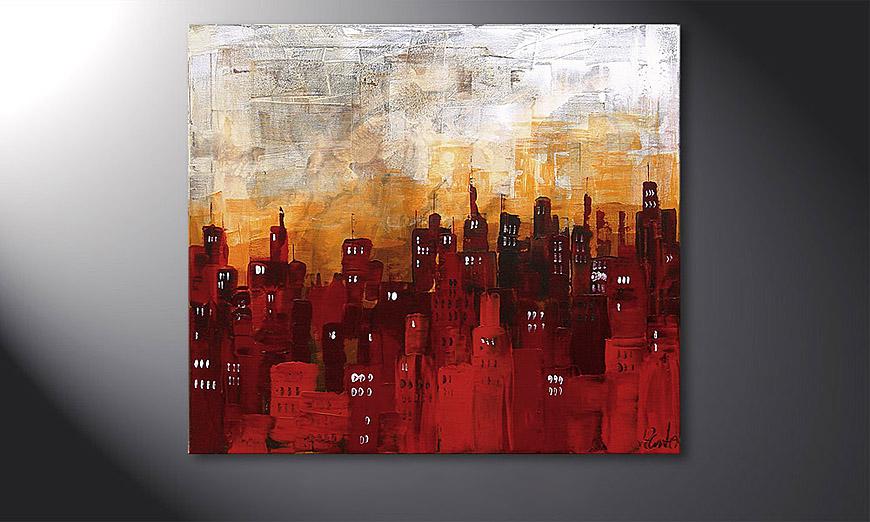 Das Wandbild Stormy Night 70x80x2cm