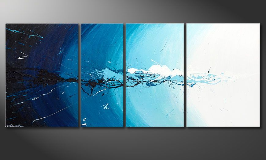 Das Wandbild Water Splash in 170x70x2cm