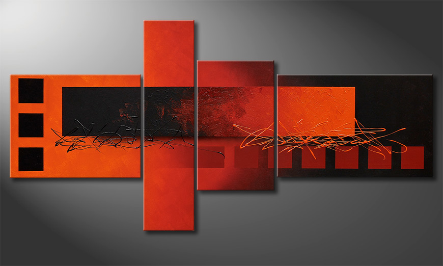 Das Wohnzimmer Bild Fiery Emotions 160x80x2cm