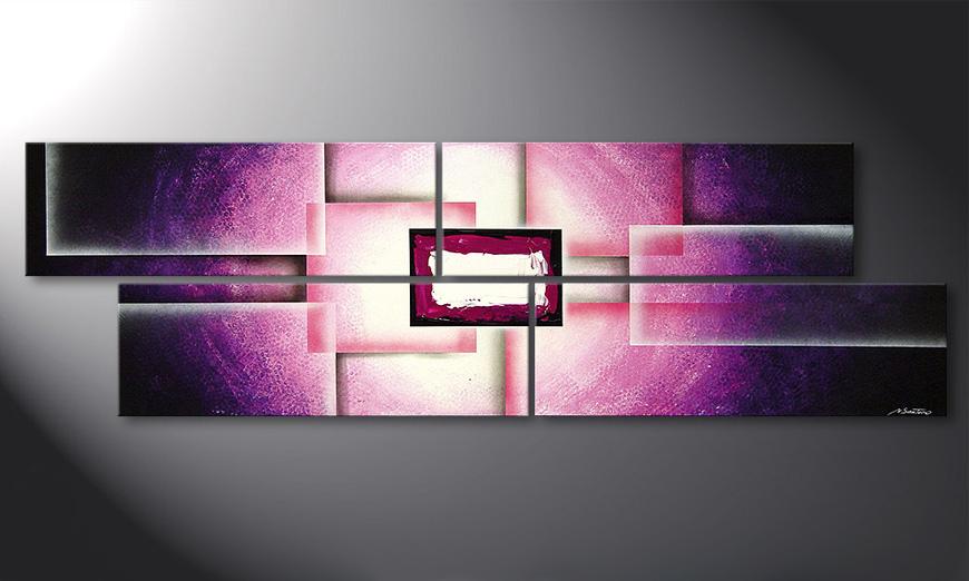 Das Wohnzimmer Bild Purple Sun 200x60x2cm