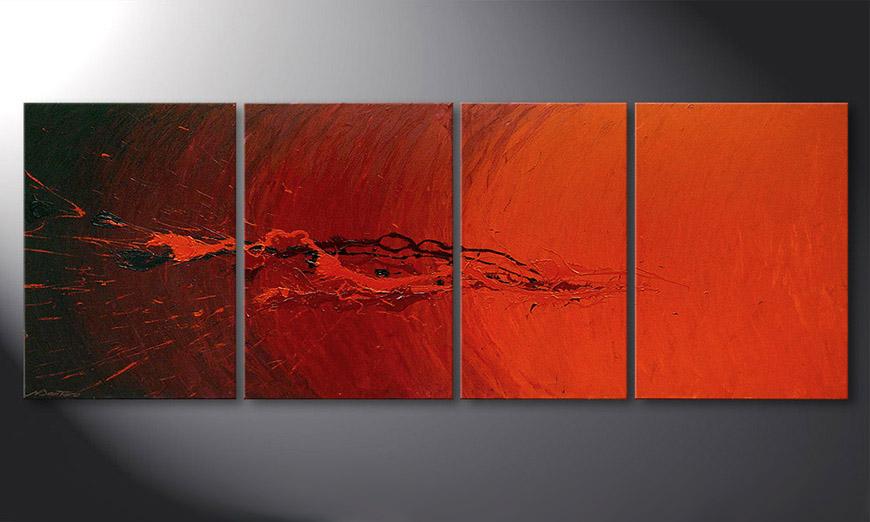 Das Wohnzimmer Bild Splash of Glow 190x70x2cm
