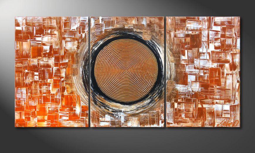 Das Wohnzimmerbild Middle of Earth 120x60x2cm