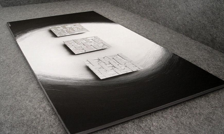 Das XXL Bild Cubes of Silver 140x70x2cm
