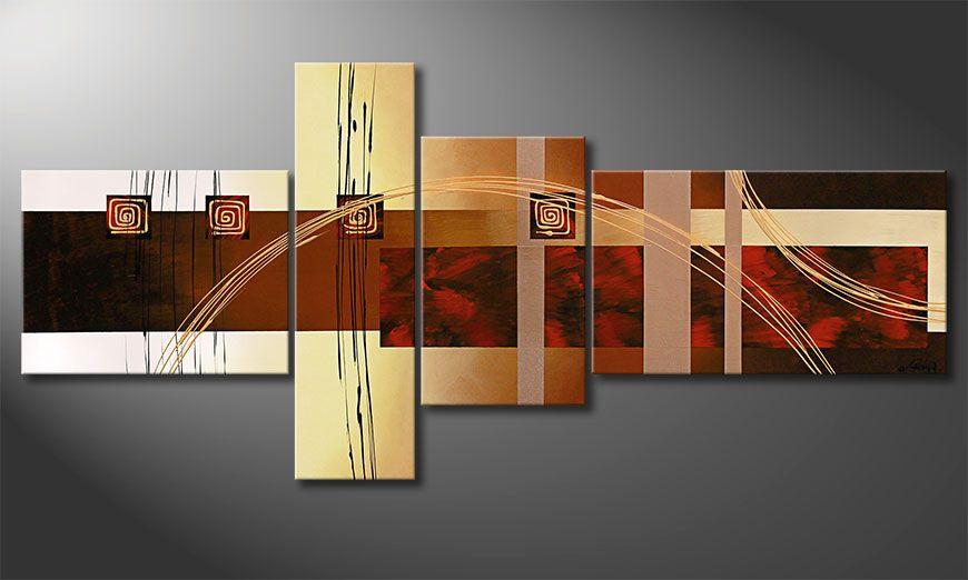Das XXL-Bild Golden Ways 220x100x2cm