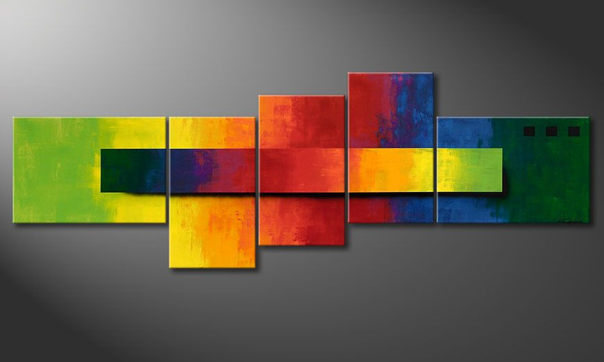 Das XXL Wandbild Facets of a Rainbow 260x90x2cm