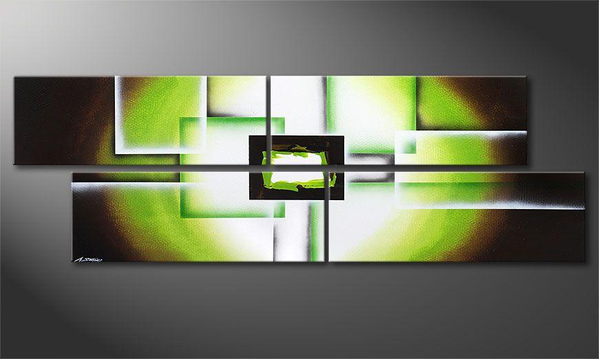 Das XXL-Wandbild Green Spirit 245x80x2cm