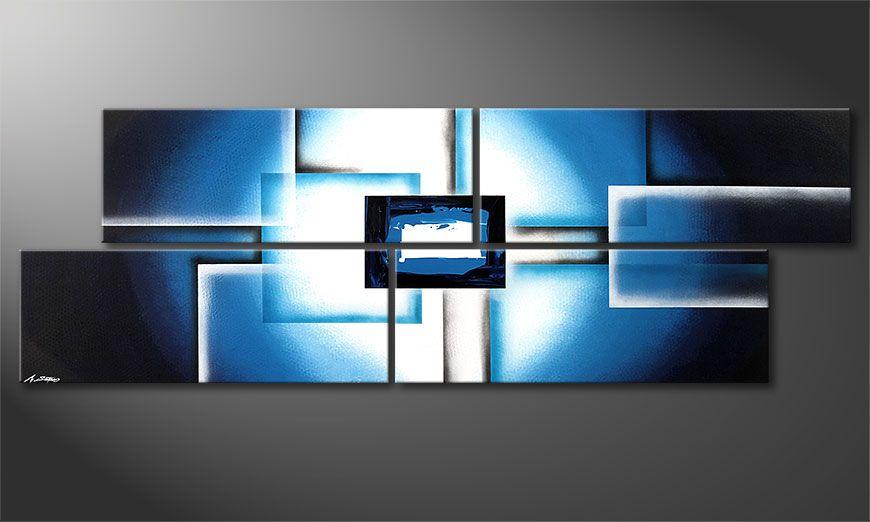 Das XXL-Wandbild Polar Glow 245x80x2cm