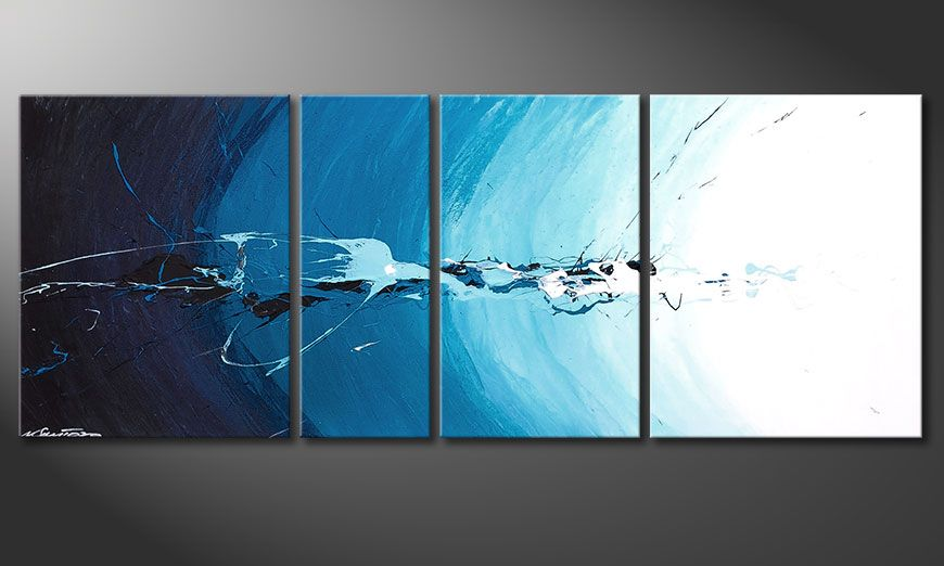 Das blaue Bild Water Splash 130x50x2cm