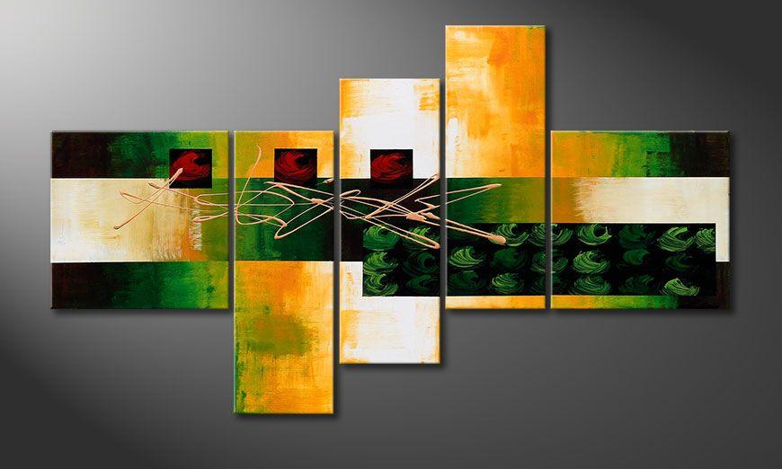 Das dekorative Wandbild Quiet Love 130x75x2cm