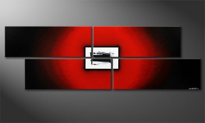 Das große moderne Bild Lost Red in 245x80x2cm