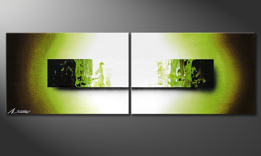 Das handgemalte Bild Jungle Fever 120x40x2cm