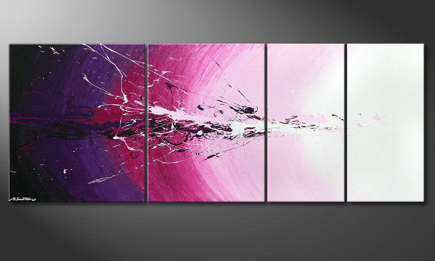 Das mehrteilige Wandbild Cosmic Splash 210x80x2cm
