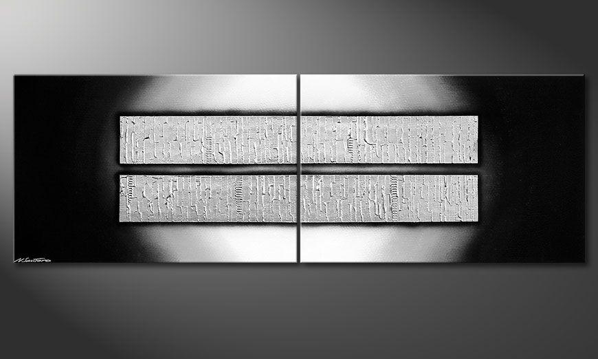Das mehrteilige XXL Wandbild Crushed Ice 240x80x2cm