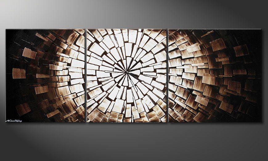 Das moderne Bild Center of Babylon 190x70x2cm