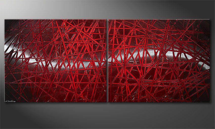 Das moderne Bild Red Push 200x80x2cm