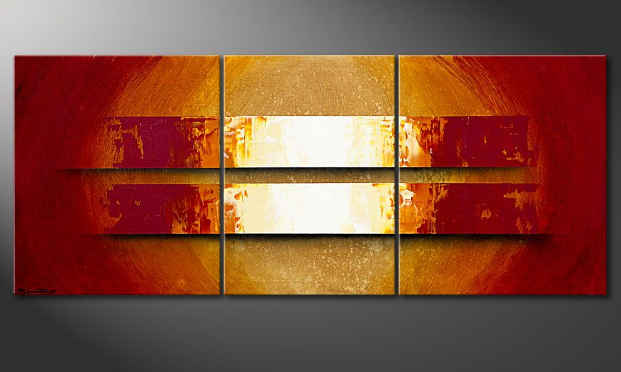 Das moderne Bild Sun Storm 170x70x2cm