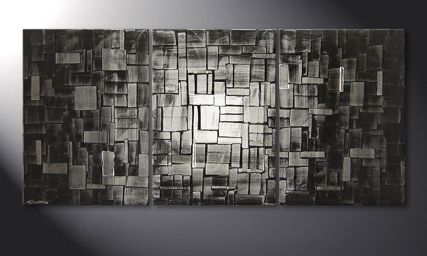 Das moderne Wandbild Moon Cubes 150x70x2cm