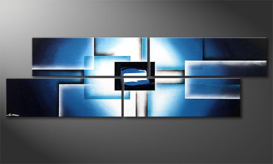 Das moderne Wandbild Polar Glow 200x60x2cm
