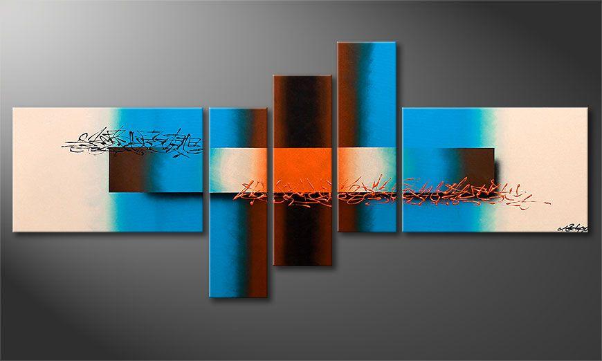 Das moderne Wandbild Summer Spirit 180x80x2cm