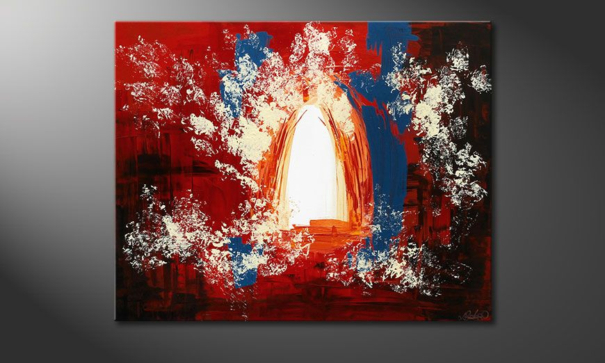 Enlightened Gate 100x80x2cm Gemälde