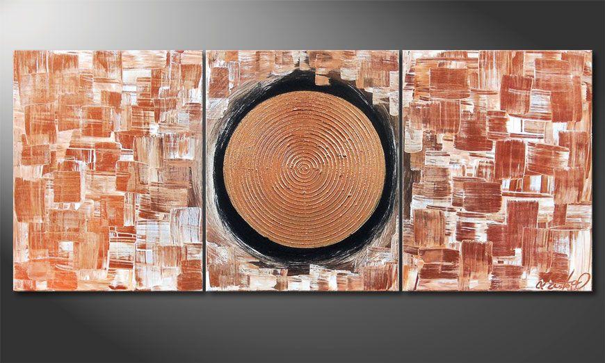 Golden Center 120x50x2cm Wandbild