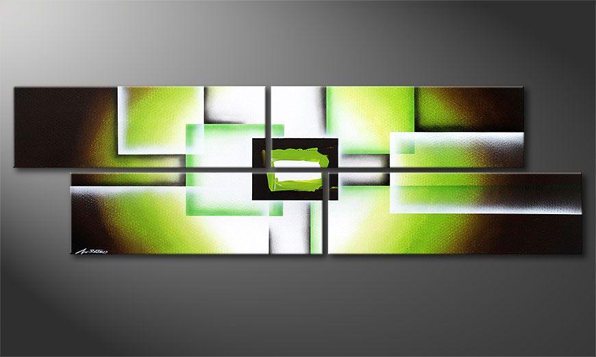 Green Spirit 200x60x2cm Wandbild